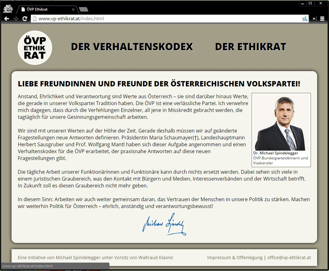 Screenshot www.vp-ethikrat.at